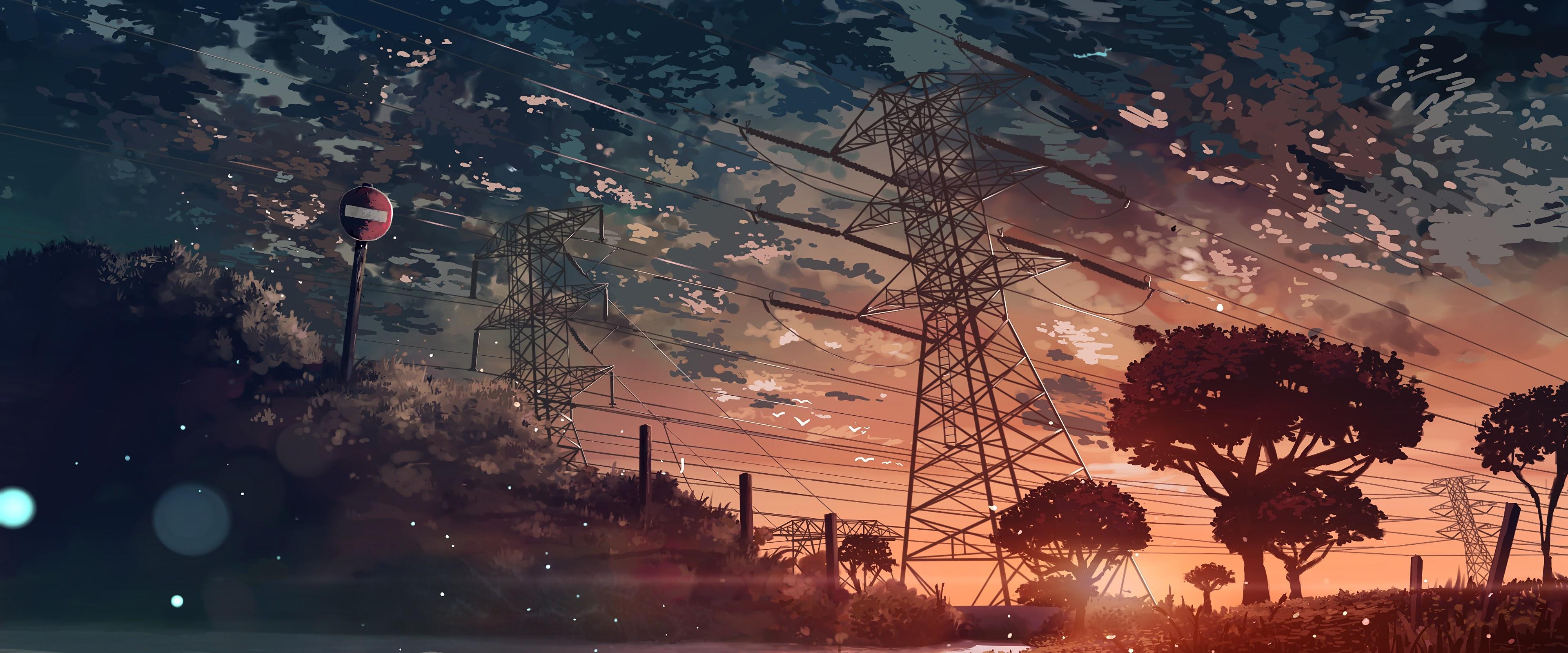 Anime, Scenery, Sunset, 4K, #112 Wallpaper