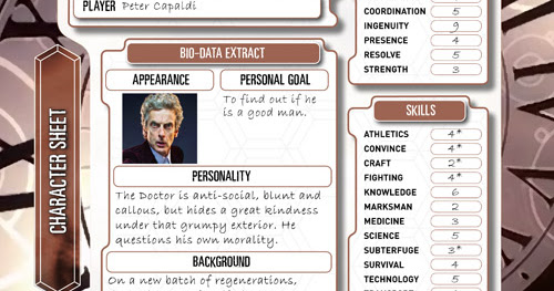 The Twelfth Doctor: The Character Sheet