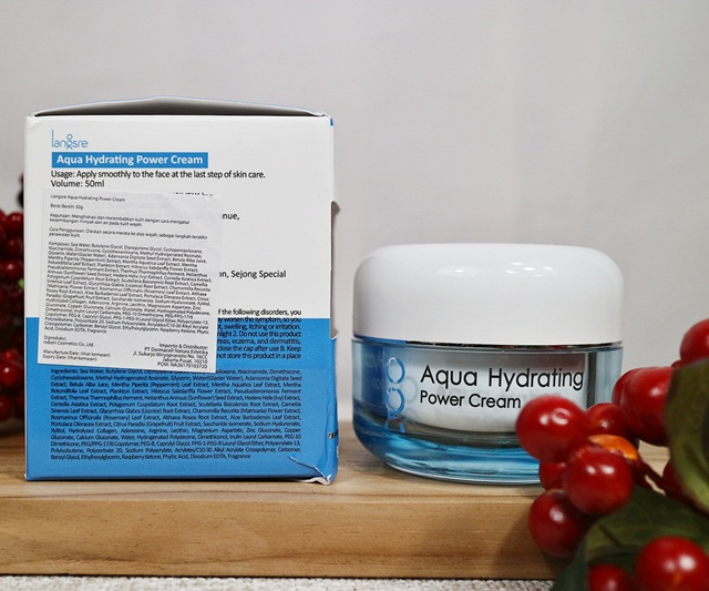 ingredient langse aqua hydrating power cream