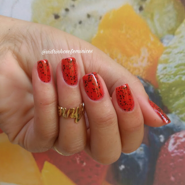 esmalte melancia avon color trend efeito pontilhado