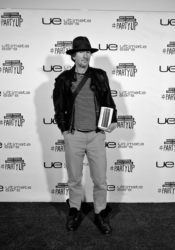 Kent with his UE Boom 2 at the Launch, Carriageworks Sydney #PartyUp  Street Fashion Sydney.