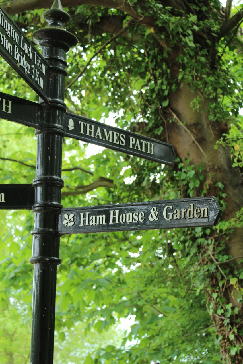 Thames Path River Sign