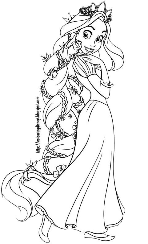 Rapunzel Tangled Desenhos Para Colorir