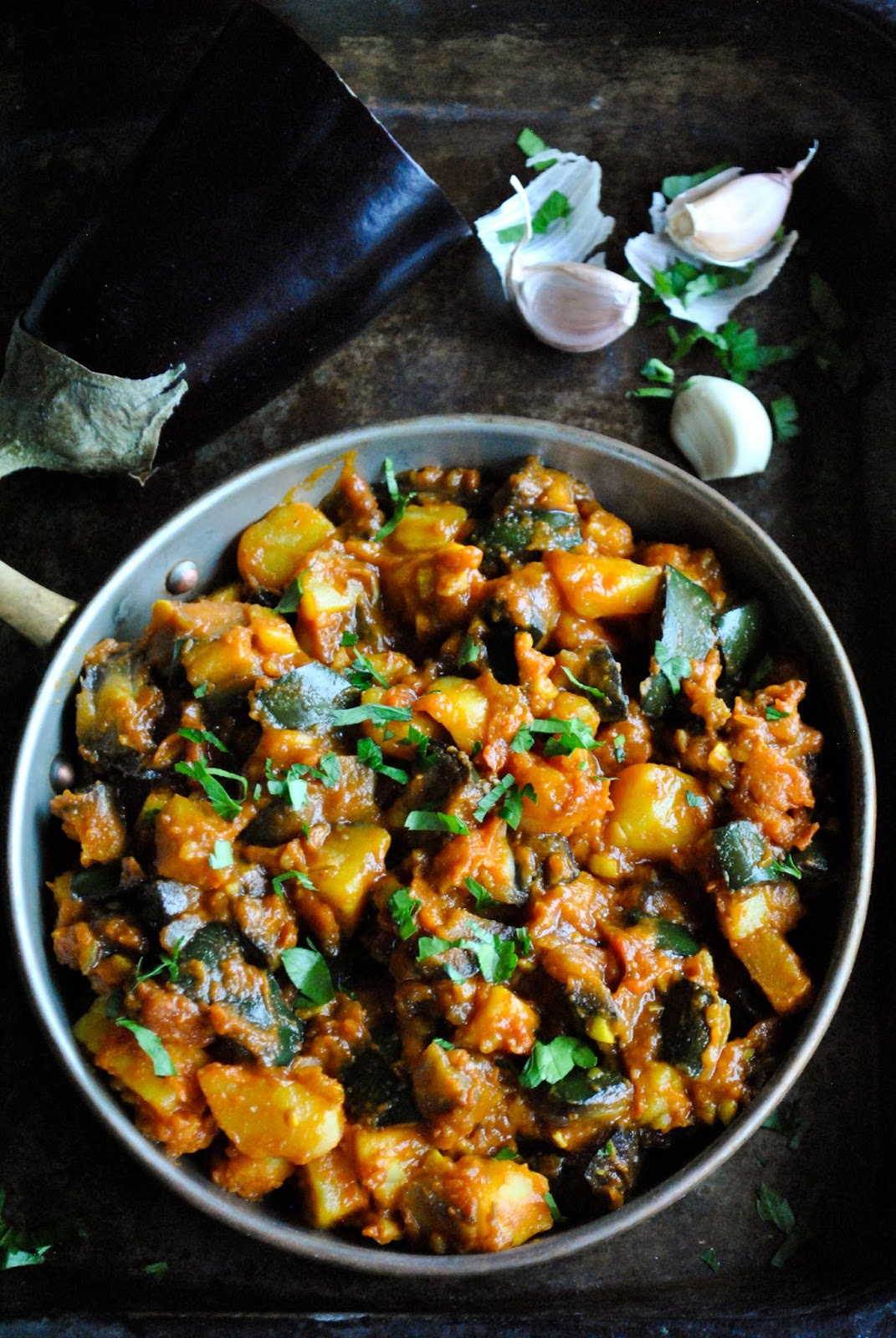 Eggplant and potatoes in tomato sauce vegansandra eggplant and potatoes in tomato sauce forumfinder Image collections