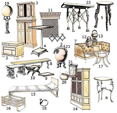 Tavolini romani for Arredamento casa antica