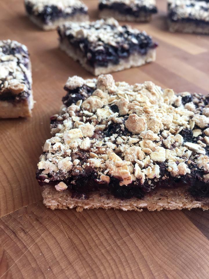 Blueberry Oat Crunch Bars