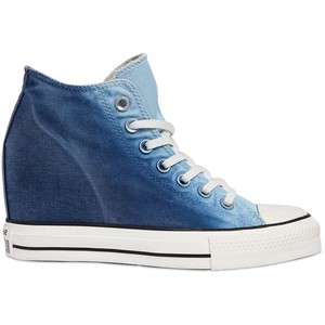 80MM star mid lux denim wedge sneakers, GBP 64 from Converse
