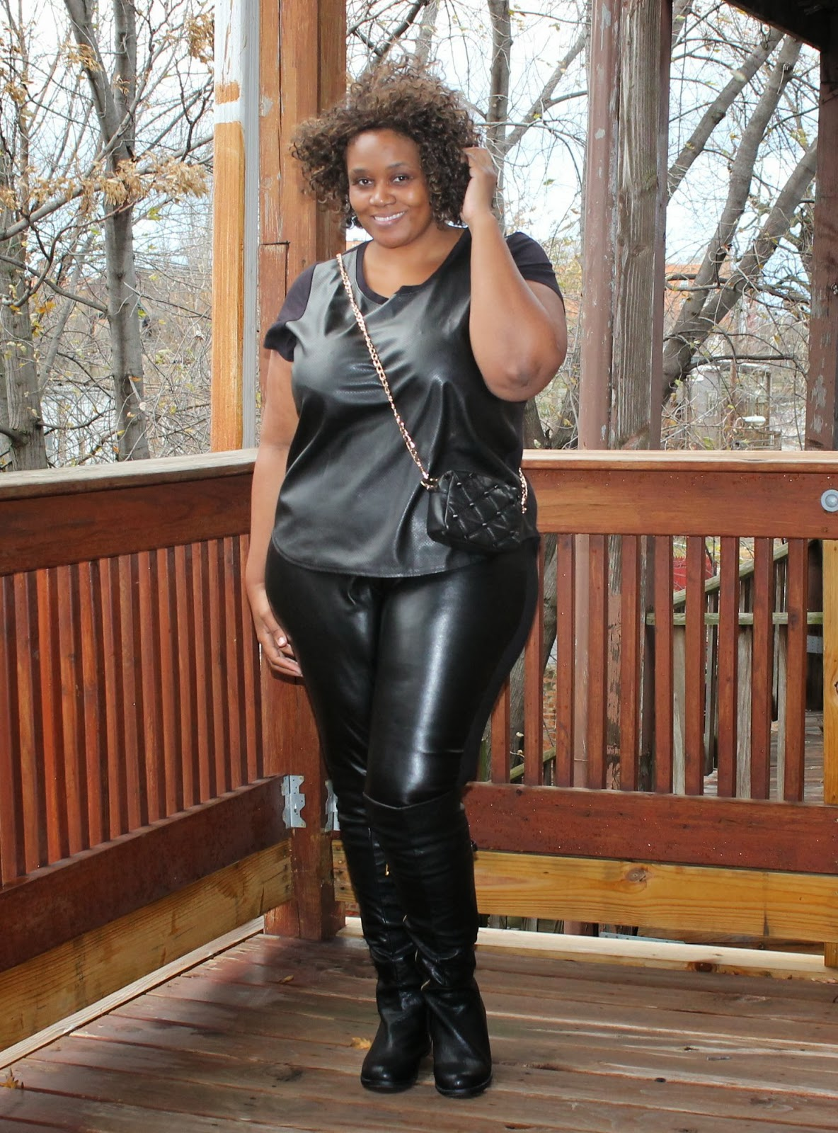 e6b6ef339cd6c Rock  n All Black (Leather) Everything + Over the Knee Boots • Curvatude