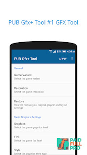 PUB Gfx+ Tool with advance settings NOBAN Paid APK