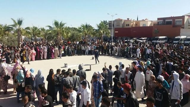 الطلبة الصحراويون بالمواقع الجامعية المغربية يواصلون انتفاضتهم تنديدا باغتيال الشهيد عبد الرحيم بدري