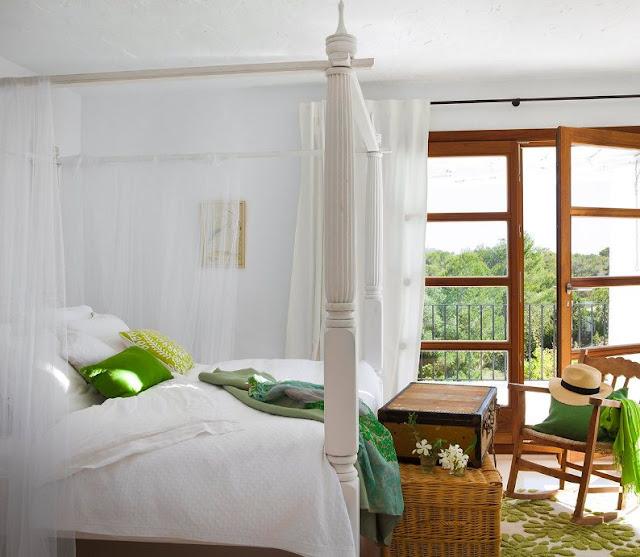 cama con dosel de madera blanco chicanddeco