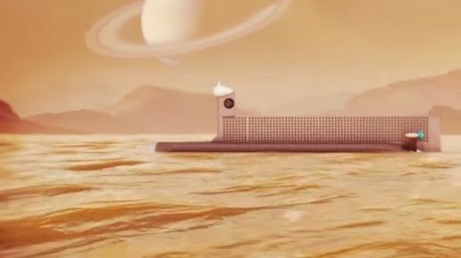 Illustration NASA submarine hydrocarbon lakes of Titan