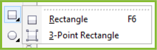 Rectangle Tool Flyout CorelDRAW X7