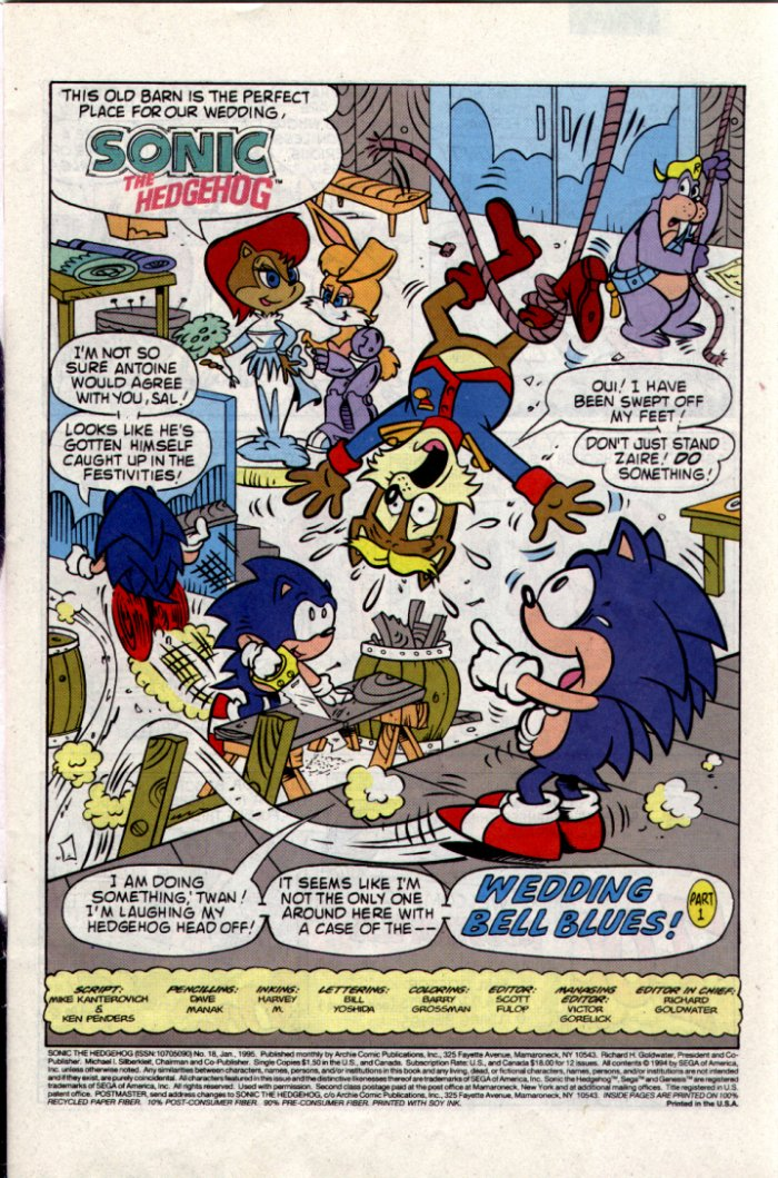 Read online Sonic The Hedgehog comic -  Issue #18 - 2