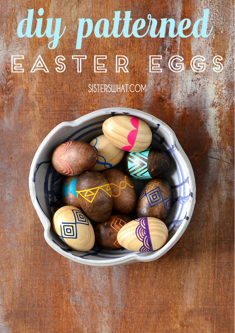 DIY patterned colorful Easter egg tutorial