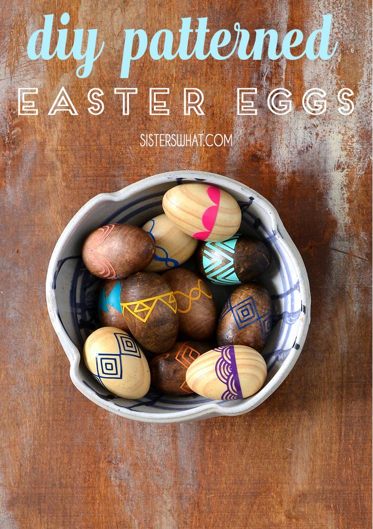 DIY wooden Easter egg tutorial