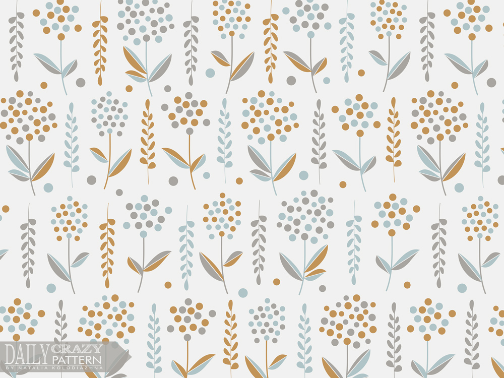 "Attractive  floral art print for ""Daily Crazy Pattern"" project"