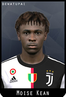 PES 2017 Faces Moise Kean by Dewatupai