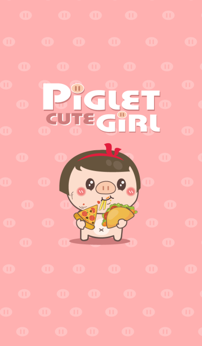 Piglet cute girl.