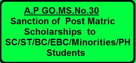 /2016/03/ap-gomsno30-sanction-post-matric-scholarships-sc-st-bc-ebc-minorities-ph-disclosure-adhar-amendment.html