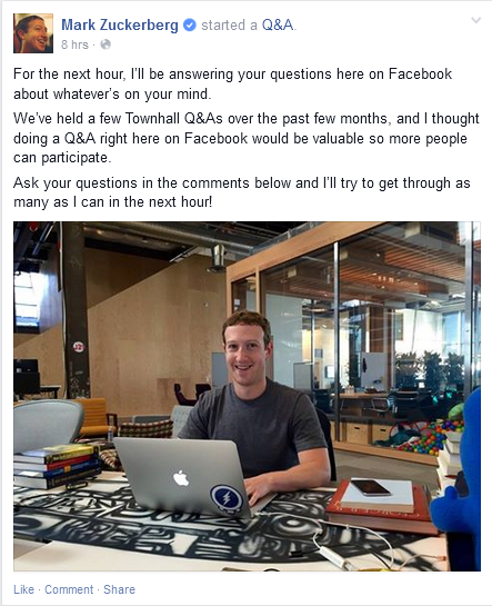 Q&A Mark Zuckerberg