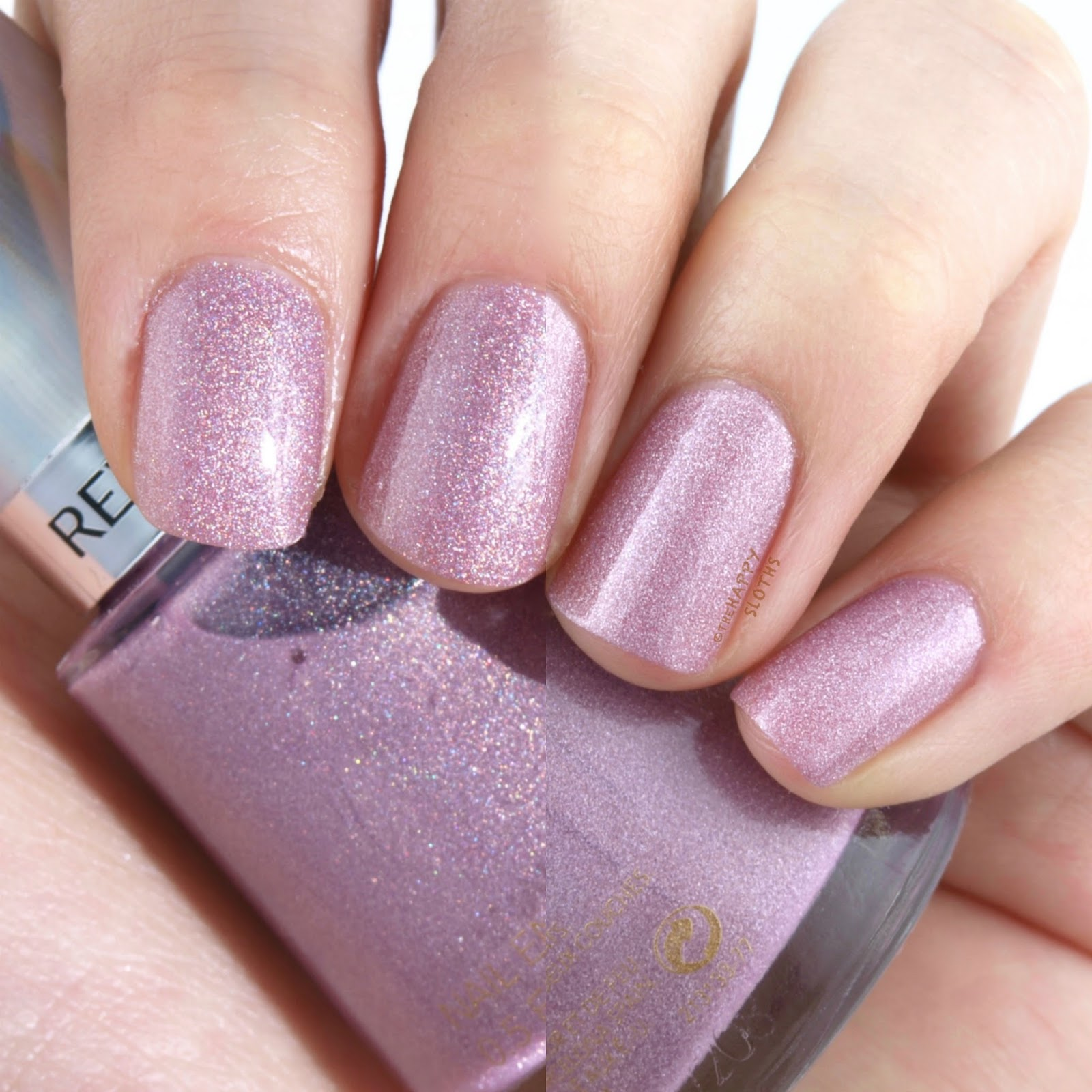 "Revlon Holochrome Nail Polish Collection in ""105 Galactic Pink"": Review and Swatches"