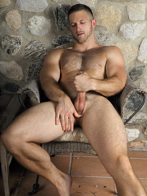Hairy Beefy Porn Star Paul Wagner Jerks Off For Randy -1477