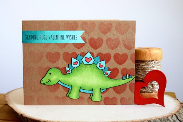 Dinosaur Valentine featuring Jess Crafts Digitals Delightful Dinos Steggy