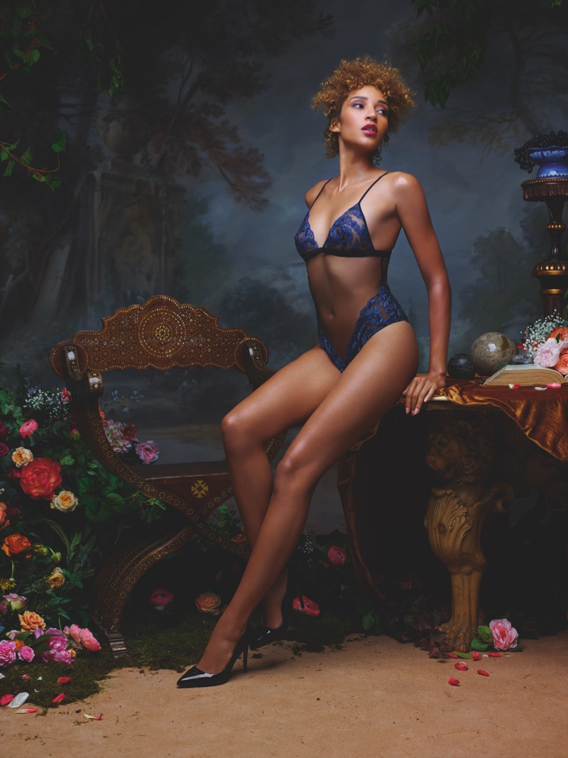 Coco de Mer features Thalia lingerie in spring-summer 2019 advertising campaign