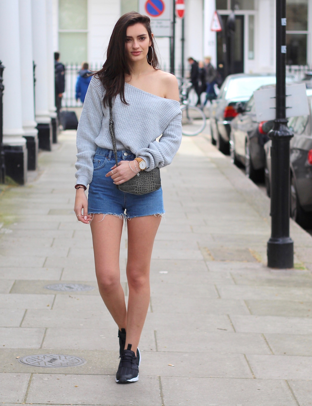 personal style blogger denim shorts