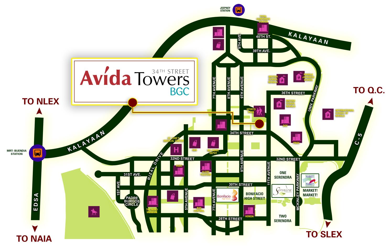 Avida Towers Bgc 34th Street Condo In The Fort Avida Towers Condo In The Philippines