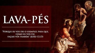 imagem de Jesus lavando os pés