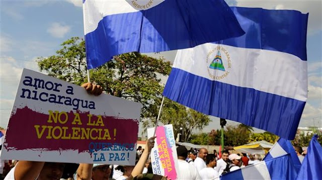 Tens of thousands rally in Nicaragua to support government