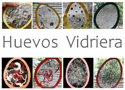 Huevos vidrieras para Semana Santa Manualidades