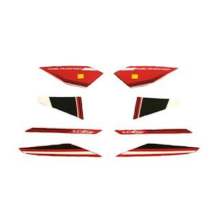 Idola Striping Motor for Vixion 2015 - Hitam Merah