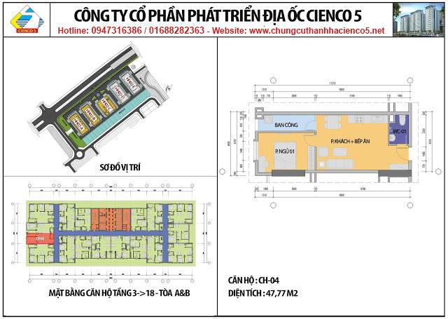Sơ đồ thiết kế căn 04 chung cư B2.1 HH02 Thanh Hà Cienco 5