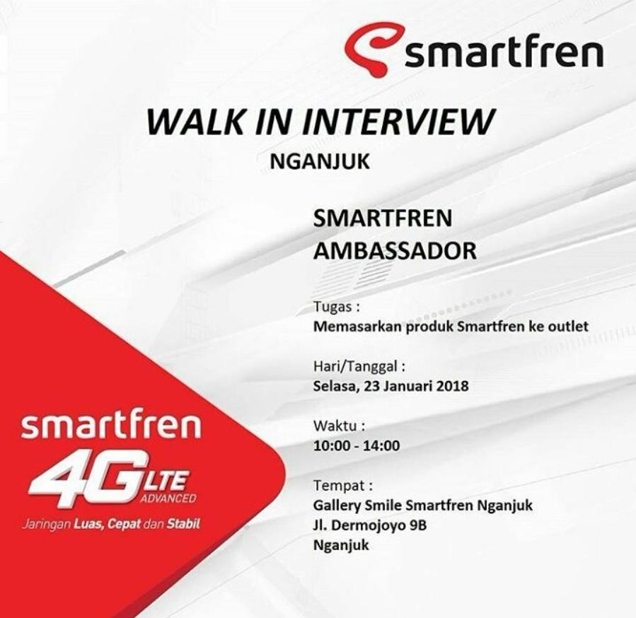 Walk In Interview Smartfren Nganjuk Jawa Timur Dibacaonline