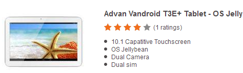 Harga Tablet Advan Vandroid T3E
