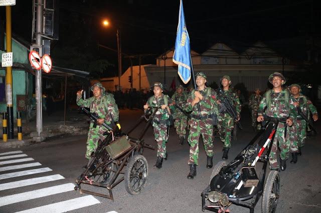 Brigif Raider 9 Kostrad Gelar Napak Tilas Menyambut HUT ke-73 TNI