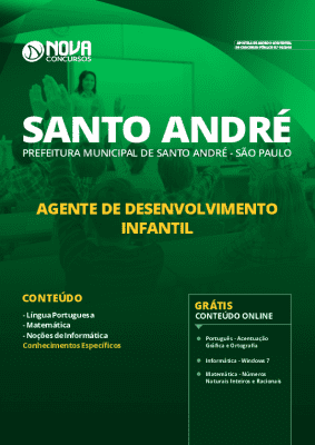 Apostila Concurso Prefeitura de Santo André 2020 Grátis Cursos Online da Editora Nova Concursos