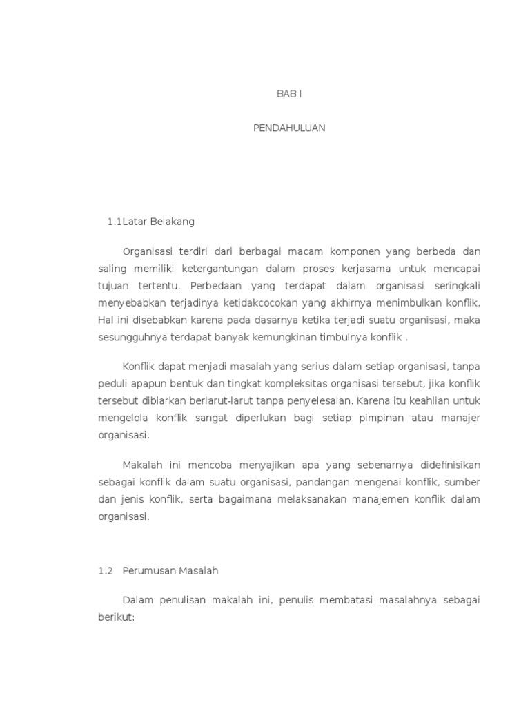 Makalah Manajemen Konflik Wood Scribd Indo