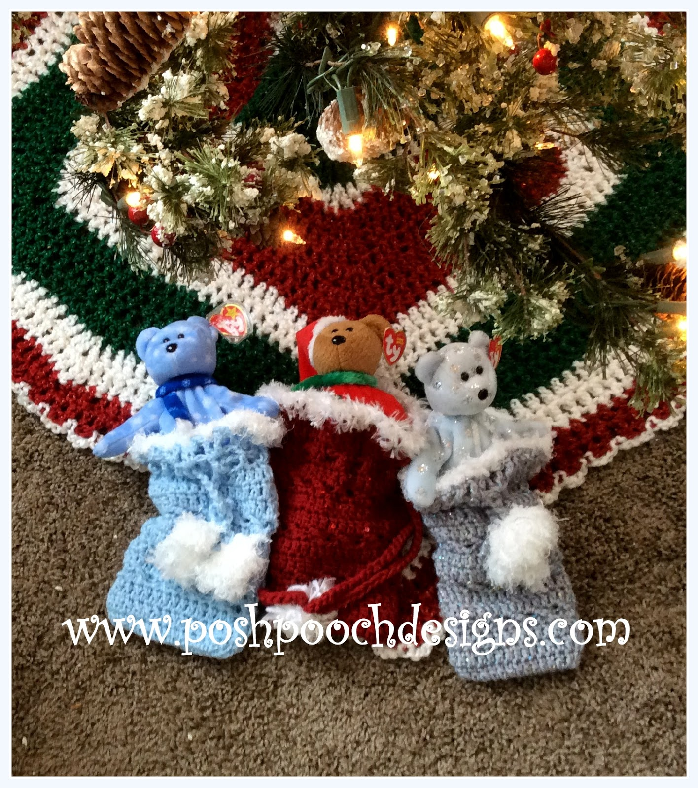 Posh Pooch Designs Dog Clothes: Christmas Gift Bag Free Crochet Pattern