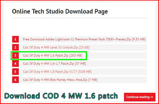 Download COD 4 MW 1.6 patch