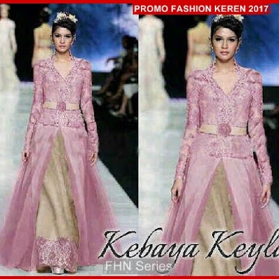 FNH095 Kebaya Modis KEYLA Dress Dusty Sl Velvet BMG