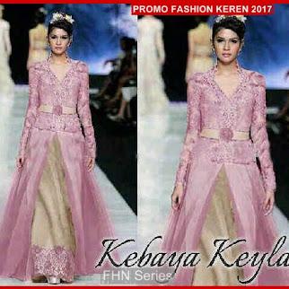 FNH095 Kebaya Modis KEYLA Dress Dusty Sl Velvet BMG