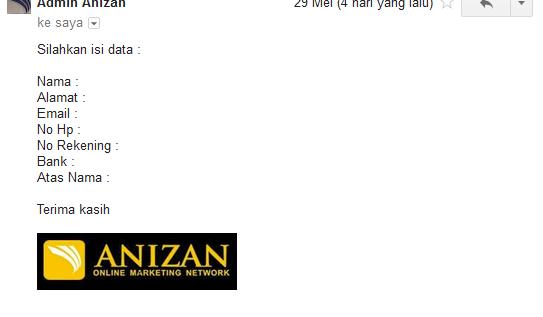 Cara Mendaftar Anizan Melalui Fast Response