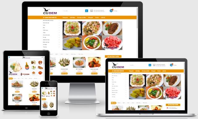 Template blogspot bán hàng thức ăn đồ ăn nhanh