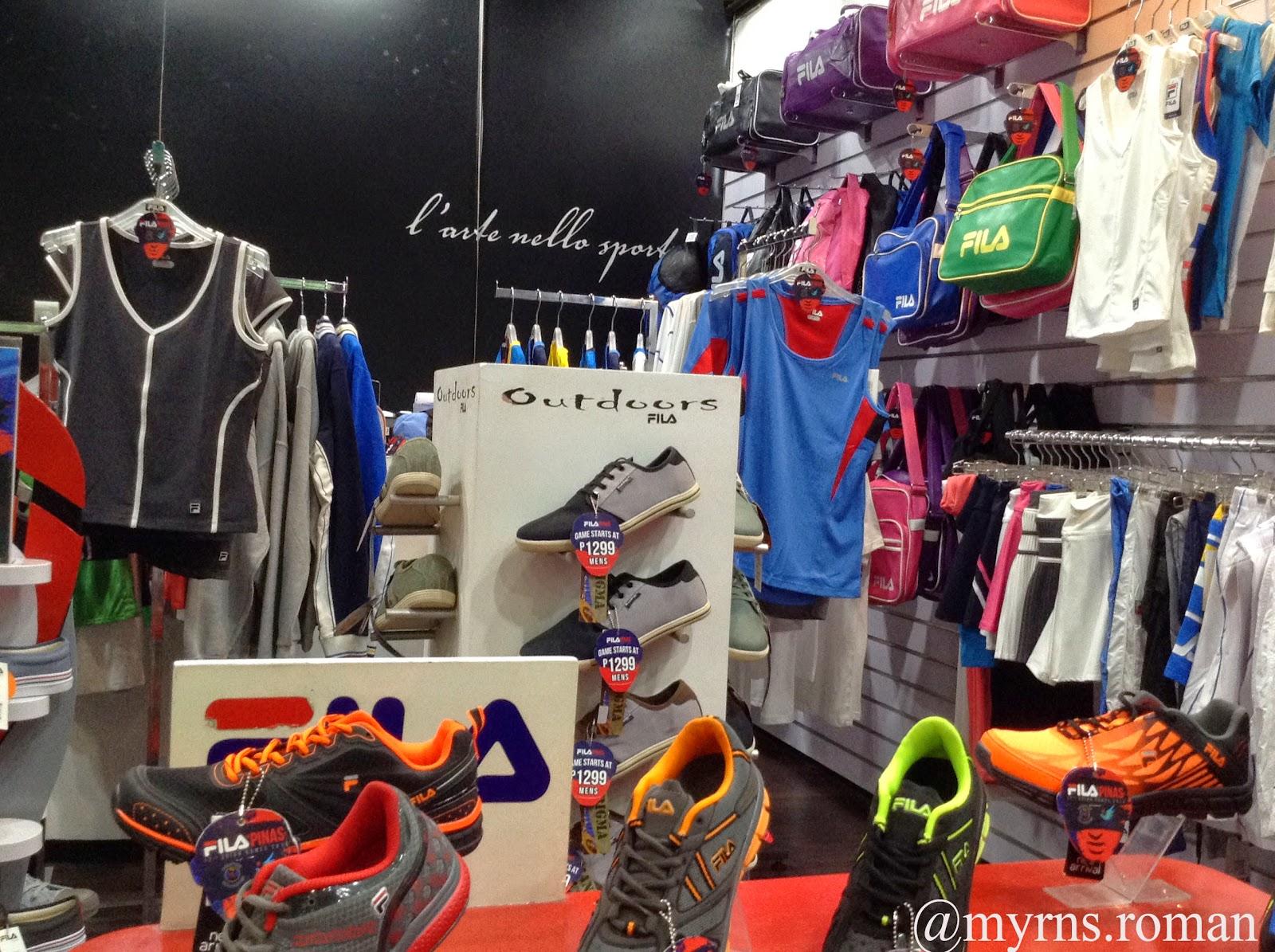 enjoying wonderful world: FILA stores host the brand