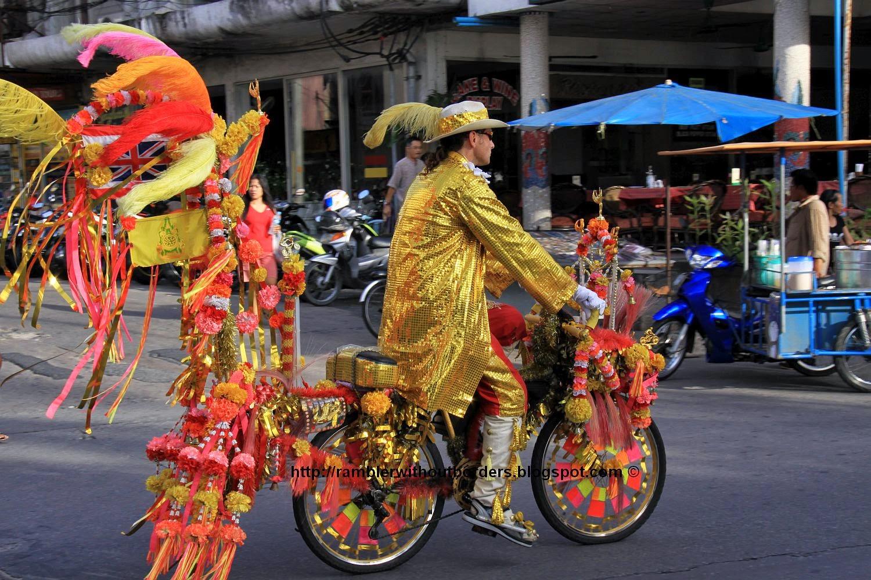 Farang cycling in Pattaya, Thailand