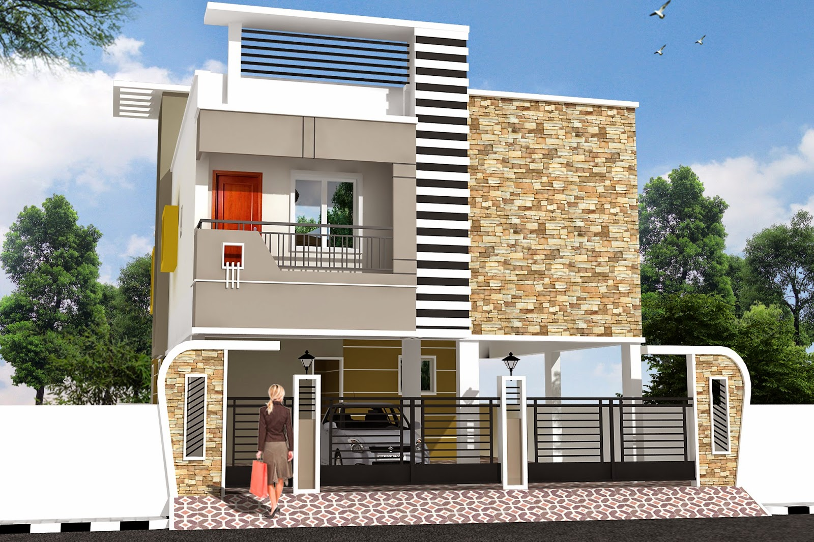 House Exterior Design India Luckydesigners Amp Builders Independent House